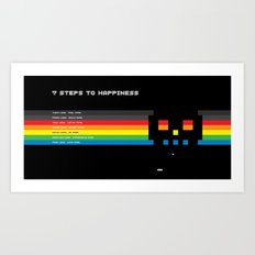 7 Steps To Happiness Art Print