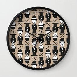 Charlie Chaplin Pattern Wall Clock