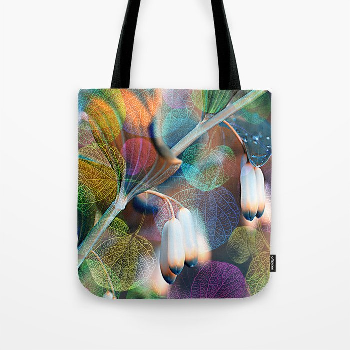 Floral abstract(48). Tote Bag