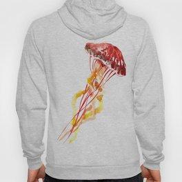 Jellyfish, Red, orange, Yellow design Hoody