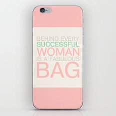 Successful woman Bag iPhone & iPod Skin