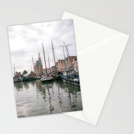 The main Tower Hoorn | Netherlands | port | old city | photography | boat Stationery Cards