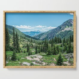 Colorado Wilderness // Why live anywhere else? Amazing Peaceful Scenery with Evergreen Dusted Hills Serving Tray