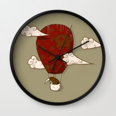 The Kiwi Learns to Fly Wall Clock