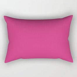 Fuchsia Pink - Solid Color Collection Rectangular Pillow