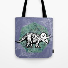 Triceratops Fossil Tote Bag