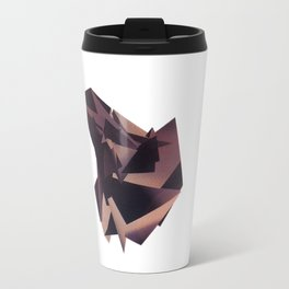 3D purple flying object Travel Mug