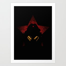 SuperHeroes Shadows : WonderWoman Art Print