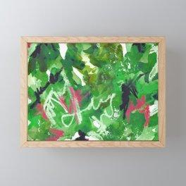 Green Abstract Mixed-Media: Nature Framed Mini Art Print