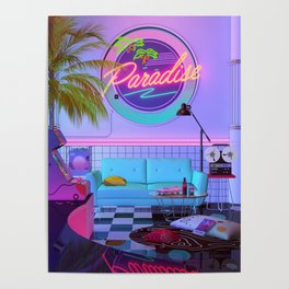 Paradise Wave Poster