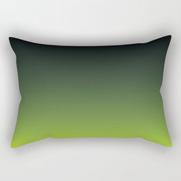 Ombre | Charcoal Grey and Lime Green Rectangular Pillow