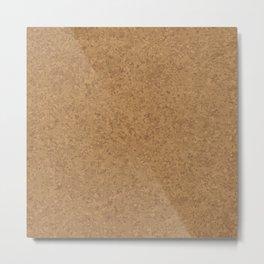 Cork Board Background Metal Print
