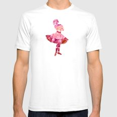 Rose Ballerina Mens Fitted Tee White SMALL