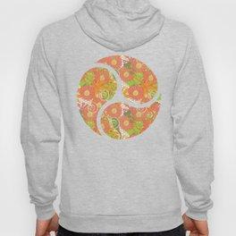 Garden Charm III:  Big Funky Flowers in Orange, Pink and Yellow Hoody
