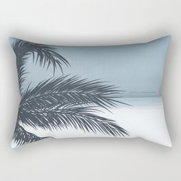 Palm and Ocean Rectangular Pillow