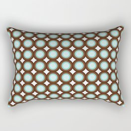 Brown & Blue Targets Rectangular Pillow