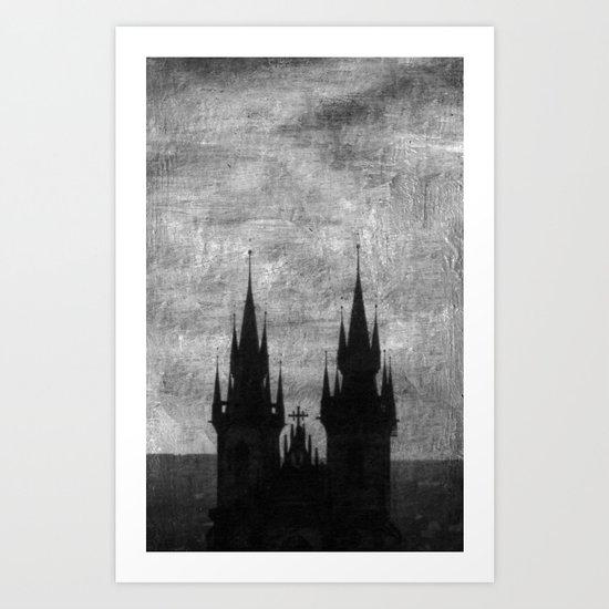 Praga in black and white Art Print