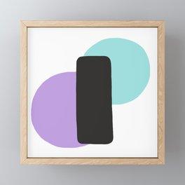Pastel Equilibrium Framed Mini Art Print