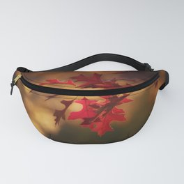 Red Maple Leaf Autumn Colors Photography Fanny Pack