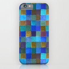 blue mosaic Slim Case iPhone 6s