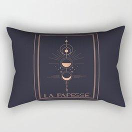 La Papesse or The High Priestess Tarot Rectangular Pillow