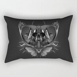 Skull Rorschach Rectangular Pillow