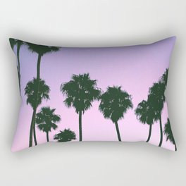Palm Tree Purple Sunset Rectangular Pillow