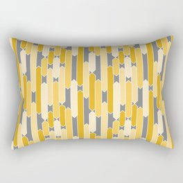 Modern Geometric Tabs in Yellows and Gray Rectangular Pillow