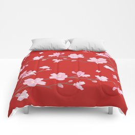 Cherry Blossom - Red Comforters