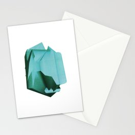 3D turquoise flying object  Stationery Cards