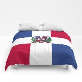 Dominican Republic flag emblem Comforters