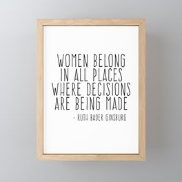 WOMEN BELONG IN ALL PLACES Framed Mini Art Print