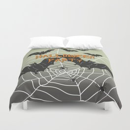 Bats- Halloween Party Duvet Cover
