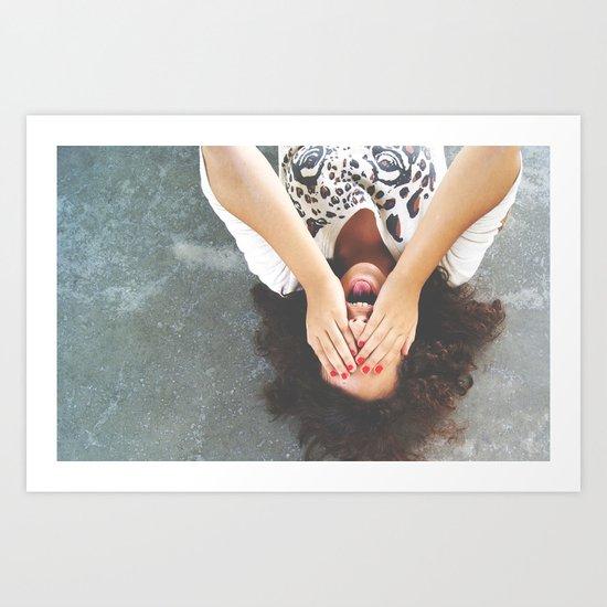 Drop your worries Art Print