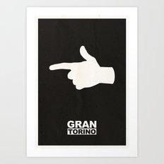 Minimalist Gran Torino Poster Art Print