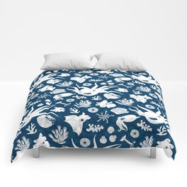 Cephalopods: Background Blue Comforters