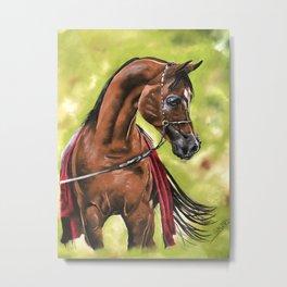 Red Arabian Metal Print