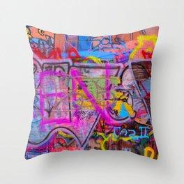 Bright Graffiti Throw Pillow