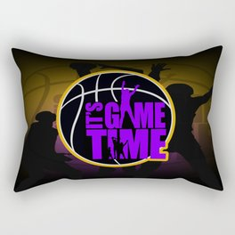 It's Game Time - Purple & Gold Rectangular Pillow