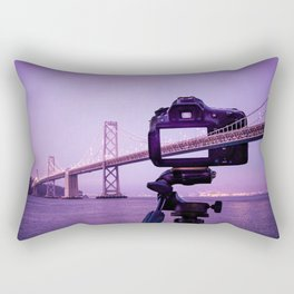 Bay Bridge Capture Rectangular Pillow