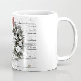 Cottage Christmas Wreath, Rustic Christmas Wreath, Boho Christmas Decor Coffee Mug