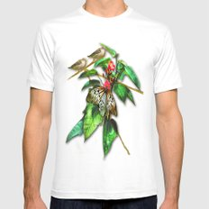 Happy Summer MEDIUM Mens Fitted Tee White