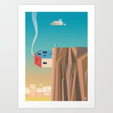 Off the edge Art Print