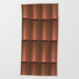 copper work Beach Towel