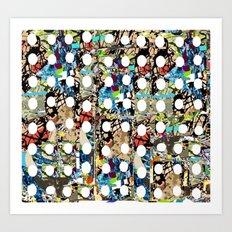DAMIEN HIRSTED 9 Art Print