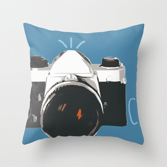 Click! - camera Throw Pillow