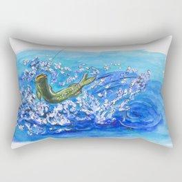 Caught Fish Rectangular Pillow
