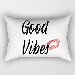 Good Vibes - Red Lips Palette Rectangular Pillow