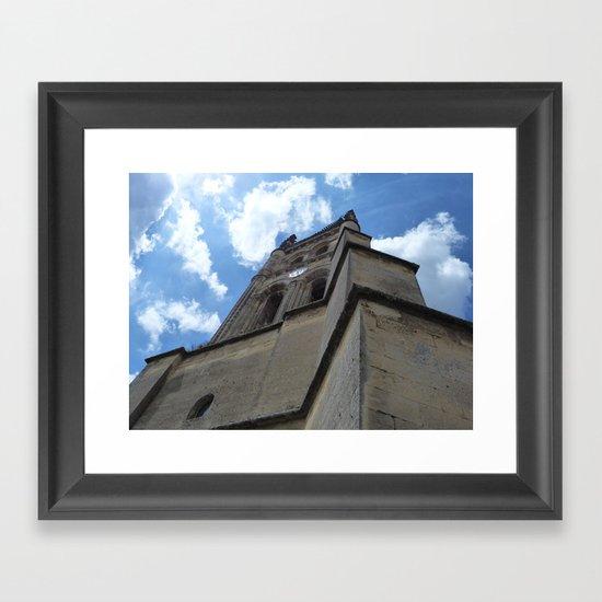 Saint Emilion spire Framed Art Print