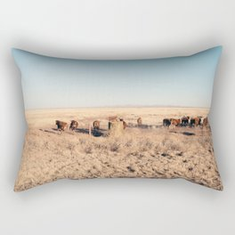 West Texas Stampede Rectangular Pillow